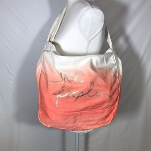 Free people cotton canvas tote. NWOT